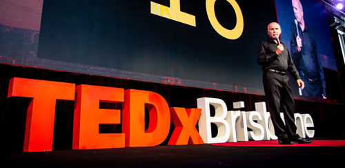 Ian Coombe at TEDxBrisbane - talking on decision-making