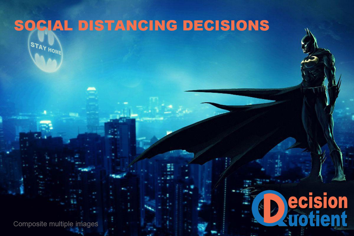 Social Distancing Meme - Batman Signal