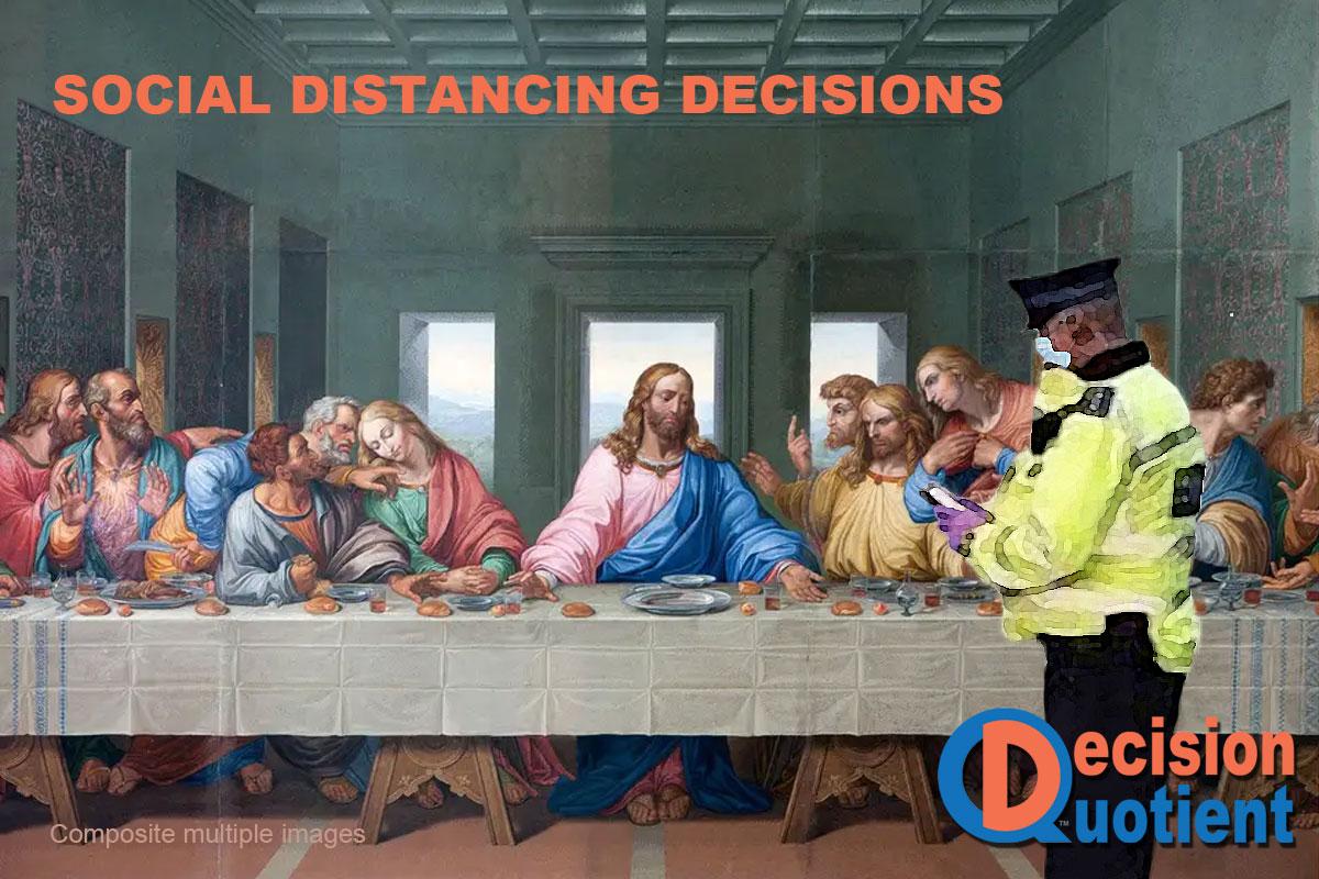 Social Distancing Meme - Last Supper