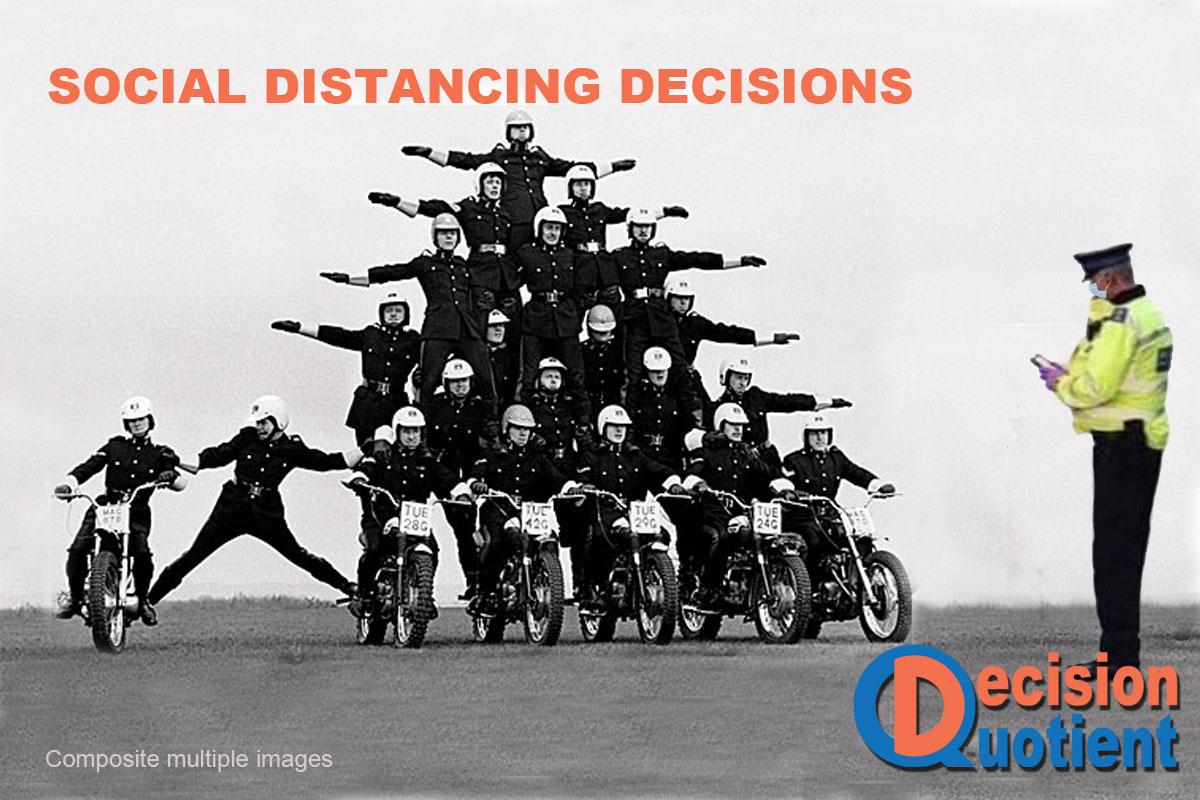 Social Distancing Meme - Motorcycle Team