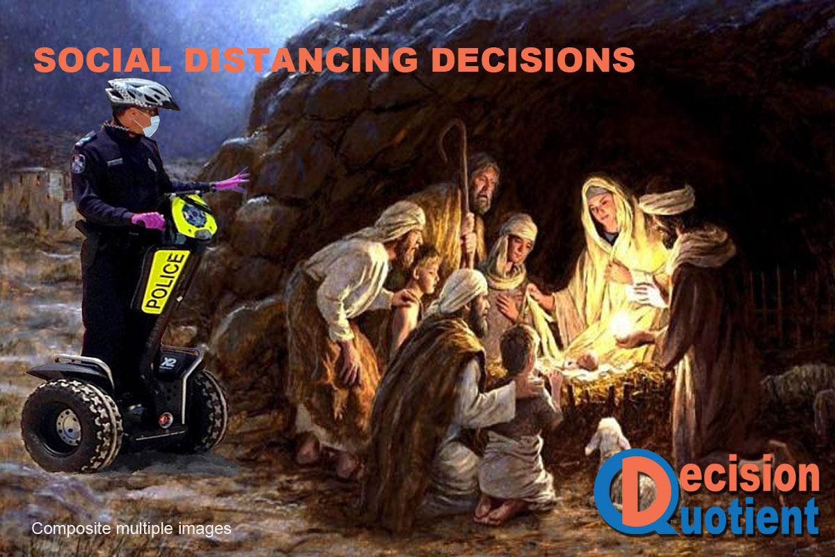 Social Distancing Meme - Nativity Scenes