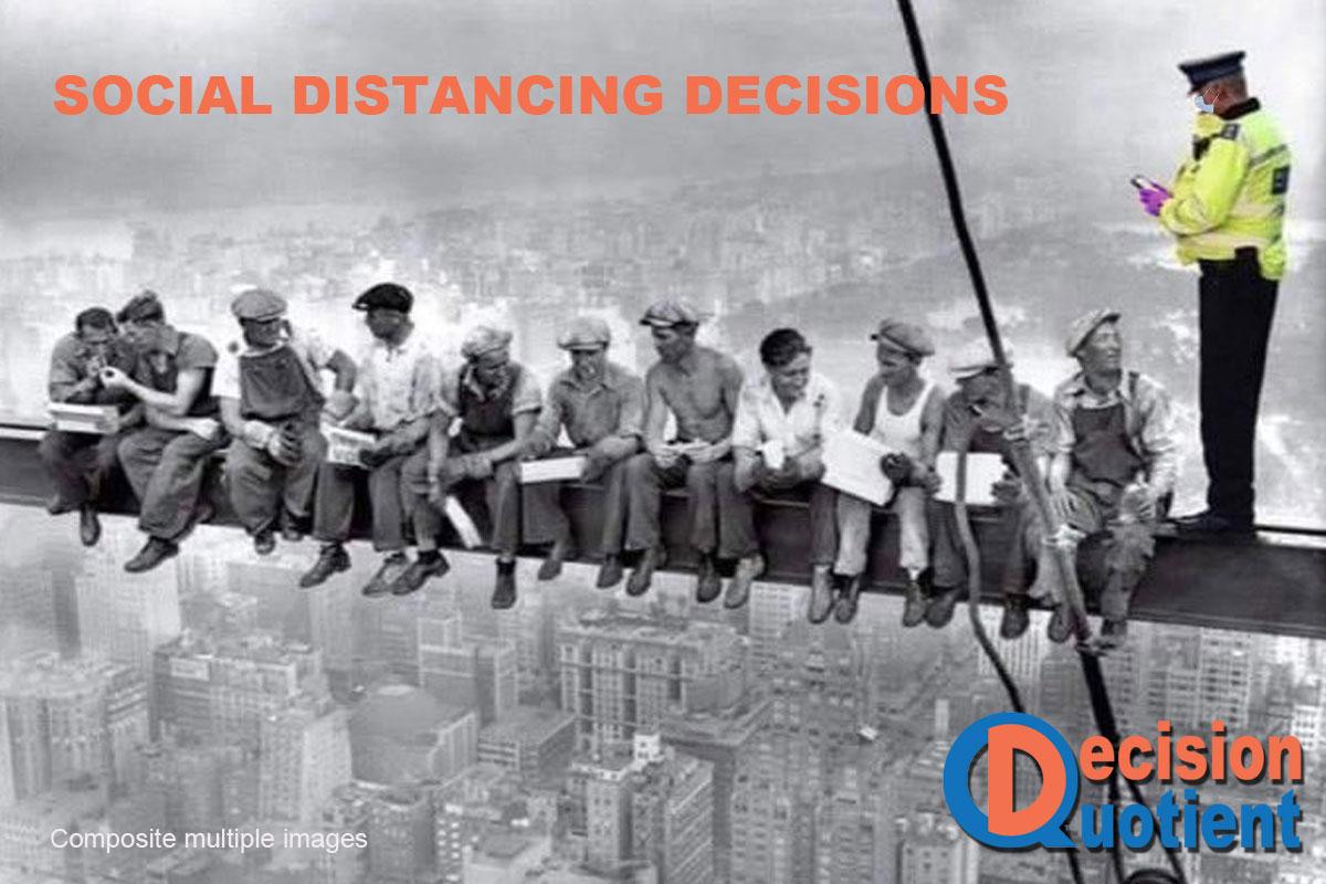 Social Distancing Meme - New York Skyscraper worker lunch