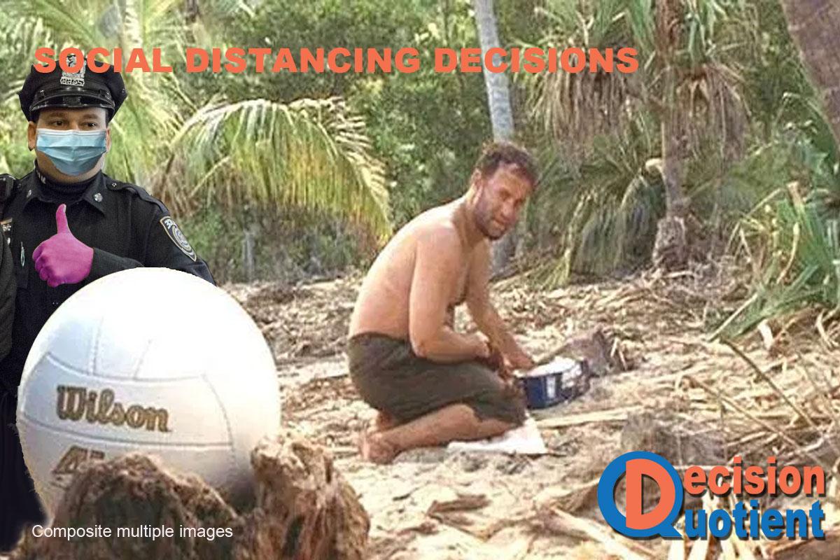 Social Distancing Meme - Tom Hanks Wilson Castaway